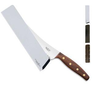 Windmühlenmesser Brotmesser BEIDHÄNDER K-B2 Walnuss + SCHARFsinnig Klingenschutz – Bild 2