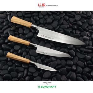 Suncraft Chef Kochmesser 24 cm Twisted Octagon Damast – Bild 4