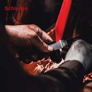 Güde Spickmesser 10 cm Alpha Birne B764/10 + SCHARFsinnig Shabby Chic Leder Klingenschutz – Bild 2