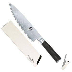 Kai Kochmesser Linkshänder 20 cm Shun Damast DM-0706L + SCHARFsinnig SAFE Klingenschützer – Bild 1