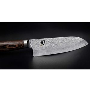Kai Allzweckmesser 16,5 cm Shun Premier TDM-1701 + SCHARFsinnig Shabby Chic Leder Klingenschutz – Bild 5
