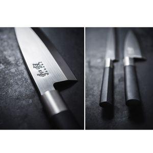 Kai Santokumesser 16,5 cm Wasabi Black 6716S + SCHARFsinnig SAFE Klingenschützer – Bild 2