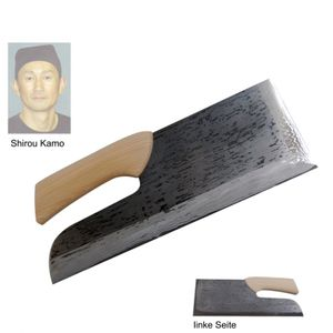 Shirou Kamo Soba kiri Nudelmesser 36 cm Damast TPG-1423
