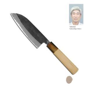 Katsushige Anryu Kuro Santoku Messer 13,5 cm TPB-005