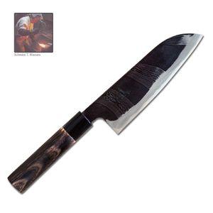 Tsukasa Hinoura Santoku Messer 18 cm Flusssprung Damast EINZELSTÜCK