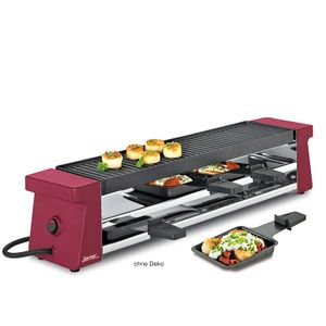 Spring Raclette-4 mit Grillplatte Compact rot