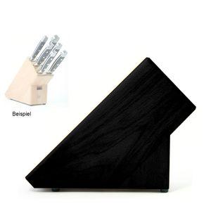 Güde Messerblock leer für 6 Teile Buche schwarz 6-1000LS