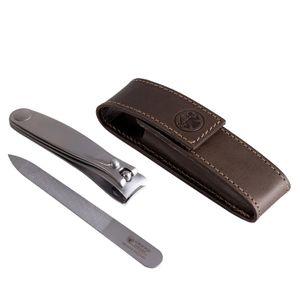 Dovo Maniküre Etui 4048056 Leder khaki 3-teilig