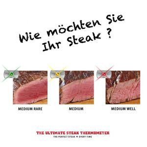SteakChamp Set Steak-Thermometer 3-Color + Steak Gewürz New York – Bild 3