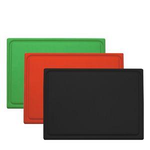 Dreizack Schneidunterlage 53 cm Set schwarz-rot-grün