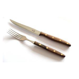 Windmühlenmesser Walnuss Steakbesteck 2tlg K-Serie