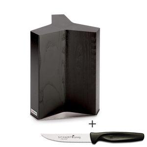 Wüsthof Messerblock magnetisch Classic Ikon 7277 plus 1 x SCHARFsinnig Pizza- und Steakmesser ultra-sägescharf