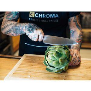 Chroma Type 301 Kochmesser Set 2-teilig P-id6124 plus 2 x SCHARFsinnig Pizza- und Steakmesser ultra-sägescharf – Bild 2