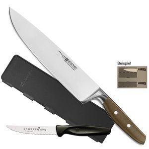 Wüsthof Chef Kochmesser Epicure 3982-24cm + Blade Guard + SCHARFsinnig Pizza-Steakmesser