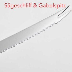 Dreizack Gourmet Tomaten- + Brotmesser Set plus 1 x SCHARFsinnig Brotzeit-Frühstücksmesser – Bild 3
