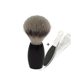 Dovo Rasierpinsel 918218 Silvertip Ebenholz + SCHARFsinnig Beauty Hornhautfeile
