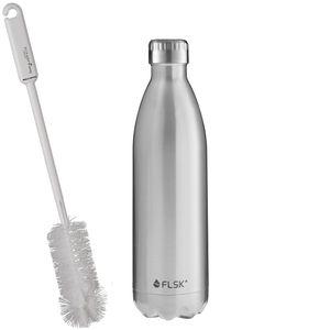 FLSK Trinkflaschen - Isolierflasche Stainless Edelstahl + SCHARFsinnig Flaschenbürste – Bild 5