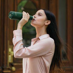 FLSK Trinkflaschen - Isolierflasche Forest dunkelgrün + SCHARFsinnig Flaschenbürste – Bild 7