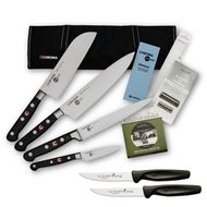 Chroma Azubi Messer Set TOP PRICE Japanchef Start-01new plus 2 x SCHARFsinnig Pizza- und Steakmesser