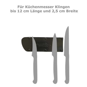 SCHARFsinnig Klingenschutz Set 5 unbestückt Bonded Leder – Bild 2