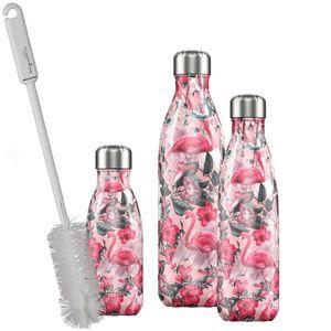 CHILLYs Trinkflasche - Isolierflasche T Flamingo + SCHARFsinnig Flaschenbürste – Bild 6