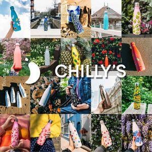 CHILLYs Trinkflasche + Becher Set Floral Daisy + SCHARFsinnig Flaschenbürste – Bild 4