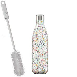 CHILLYs Trinkflasche - Isolierflasche Meadow + SCHARFsinnig Flaschenbürste – Bild 2
