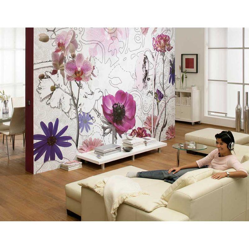 Komar Fototapete Purple 368 x 254 cm Designbeispiel