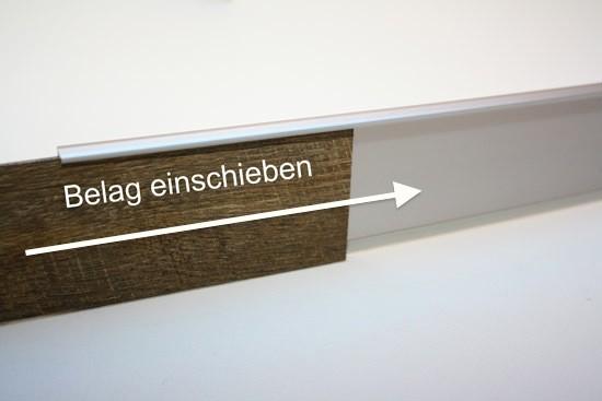einfassleiste sockelleiste f r designbel ge design leiste 55 bodenbel ge verlegezubeh r. Black Bedroom Furniture Sets. Home Design Ideas
