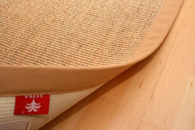 Sisal Teppich Manaus Natur-Meliert mit Stoffbordüre #006  Bild 2