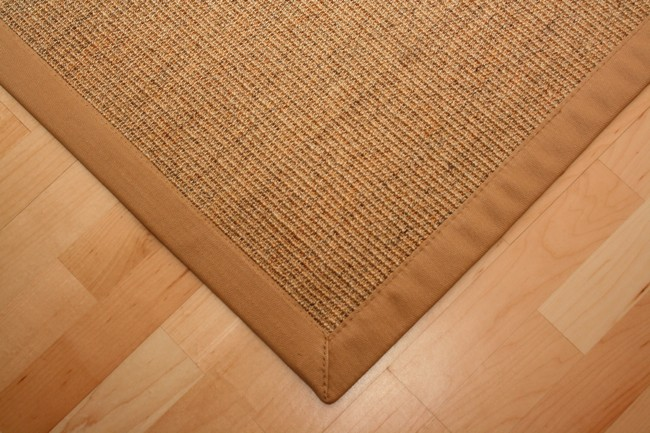 Sisal Teppich Manaus Natur-Meliert mit Stoffbordüre #006  Bild 3