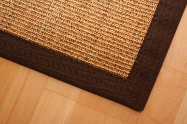 Sisal Teppich Manaus Natur-Meliert mit Stoffbordüre #066  Bild 3