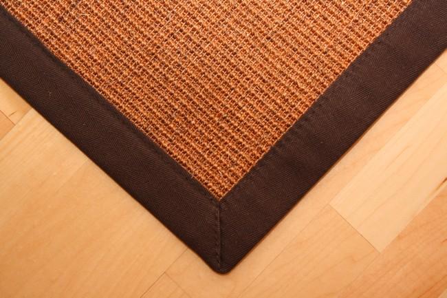 Sisal Teppich Manaus Braun mit Stoffbordüre #065  Bild 3
