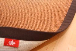 Sisal Teppich Manaus Braun mit Stoffbordüre #065  Bild 2