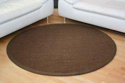 Sisal Teppich Manaus Dunkelbraun mit Stoffbordüre #064  Bild 3