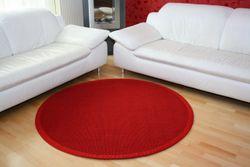 Astra Sisal Teppich Rot mit Stoffbordüre #011  Muster Bild 3