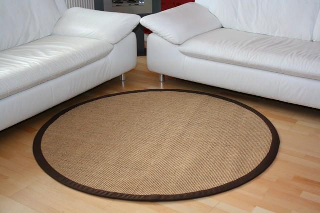 Astra Sisal Teppich Natur Meliert mit Stoffbordüre #066 |Muster Bild 4
