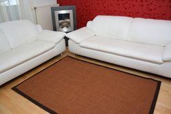 Astra Sisal Teppich Braun mit Stoffbordüre #065 |Muster Bild 1