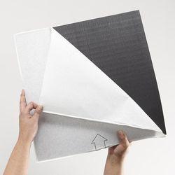 Gerflor Design 0221 Black Tile Rückseite