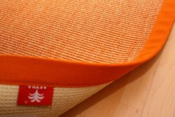 Sisal Teppich Manaus Fleckschutz | Orange mit Stoffbordüre #061  Bild 2