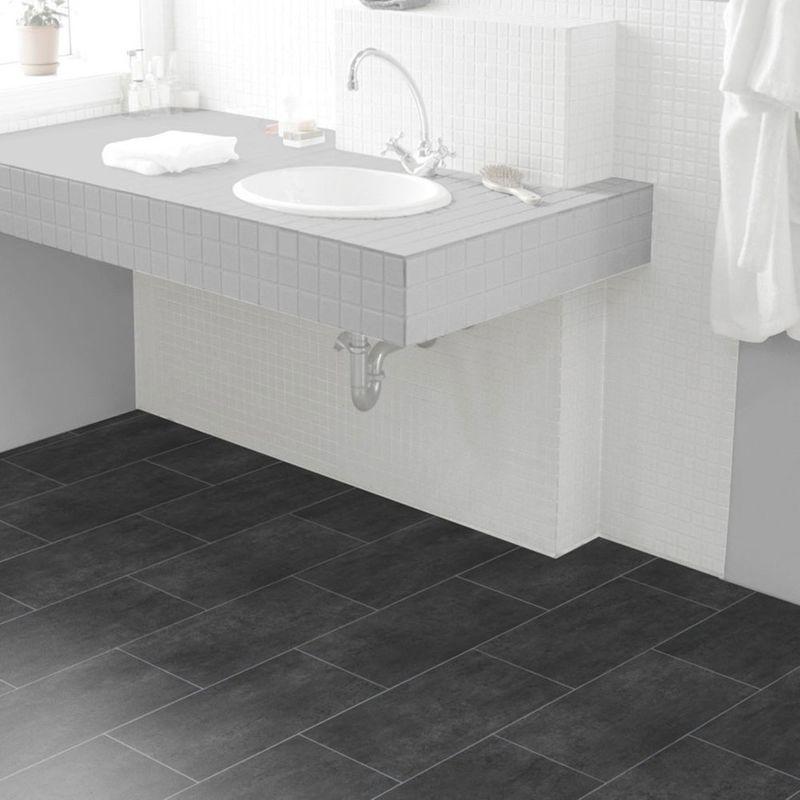 PVC Bodenbelag Tarkett Select 150 | Melbourne Noir Designbeispiel 2
