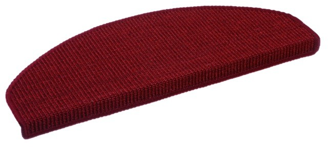Sisal Salvador Stufenmatte 25x65 cm Farbe: Rot 10