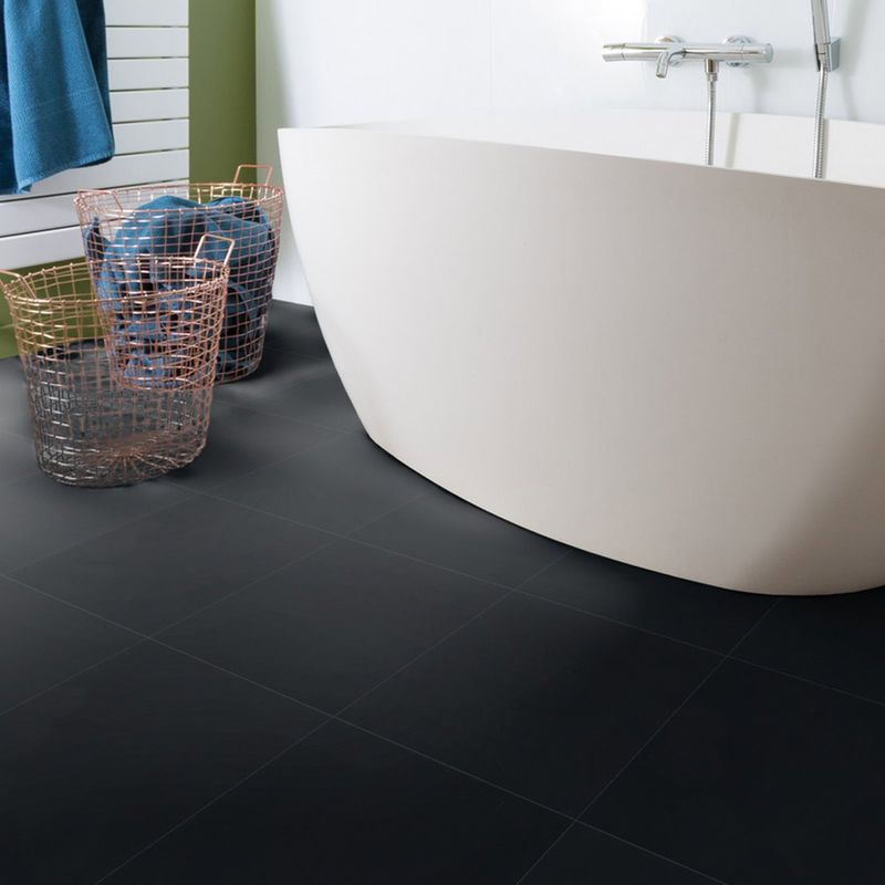 Gerflor Vinyl Fliese Design 0221 Black Tile 1m²