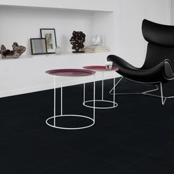 Gerflor Vinyl Fliese Design Black Tile Designbeispiel