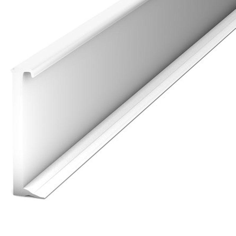 Einklebeleiste Sockelleiste für Designbeläge Nr. 816 in weiß