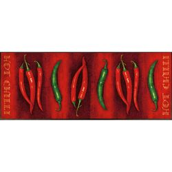 Fussmatte wash+dry Design Hot Chilli 75x190 cm