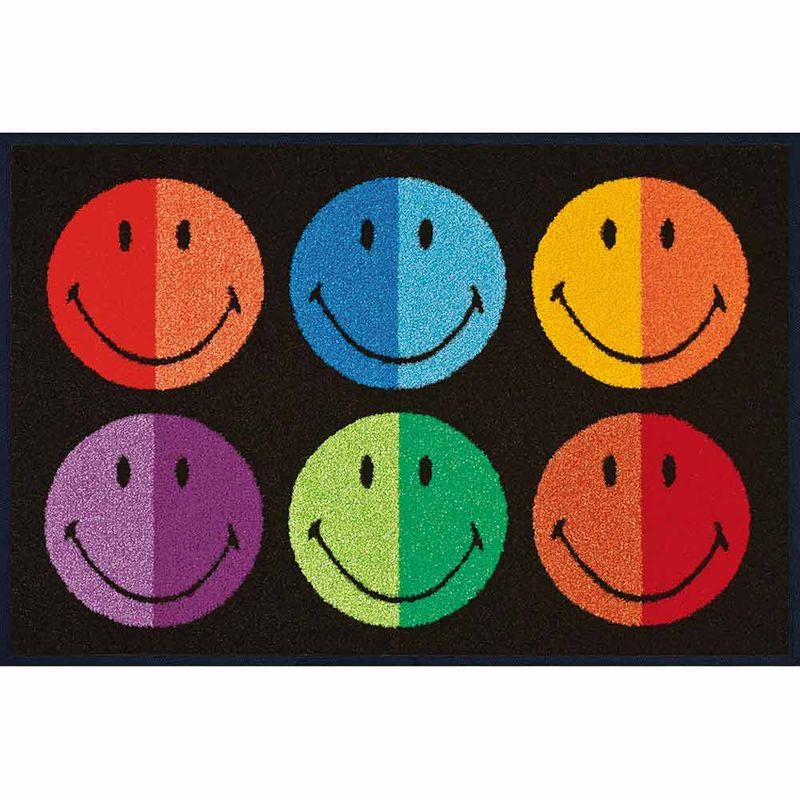 Fußmatte wash+dry Design Smiley Colours 50x75 cm