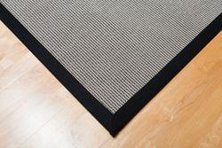 Bordürenteppich Stripes Schwarz-Grau | 200x290 cm
