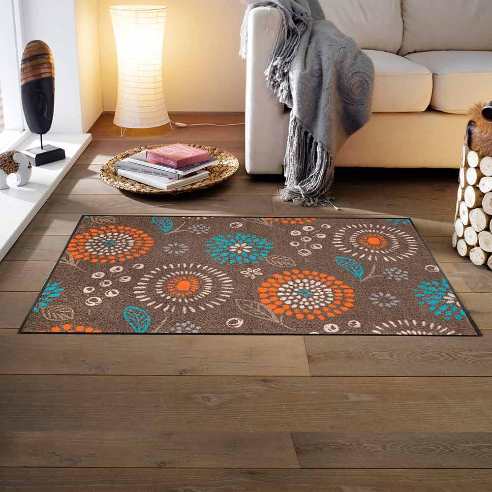 fu matte wash dry design mille fiori taupe 75x120 cm. Black Bedroom Furniture Sets. Home Design Ideas