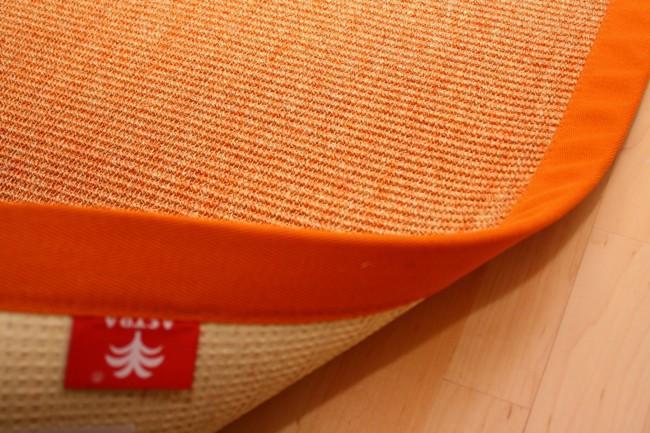 Sisalteppich Manaus Orange mit Stoffbordüre #061   300x400 cm   2. Wahl Bild 2